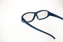 verres du cinéma 3D - bleu Image libre de droits