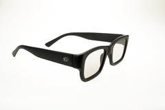 verres du cinéma 3D - noir Image stock