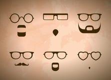 Verres et barbes Photos libres de droits