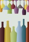 Verres et bouteilles illustration de vecteur
