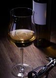 Verres et bouteilles de vin Photo libre de droits