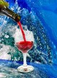 Verres et bouteilles de vin Images libres de droits