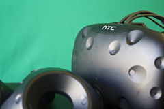 Verres et contrôles de VR photographie stock libre de droits