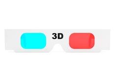Verres modernes du cinéma 3D Images libres de droits