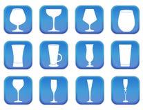 Verres pour des boissons Photographie stock