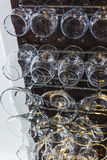 Verres pour le vin Photo libre de droits