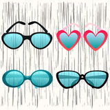 Verres, rétros lunettes de soleil Illustration de vecteur Photo libre de droits