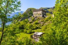 Verreskasteel, Aosta-Vallei, Noordelijk Italië royalty-vrije stock afbeeldingen