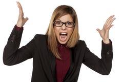 Verärgerte Geschäftsfrau Stockfotos