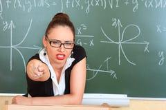 Verärgerter Lehrer Stockbild