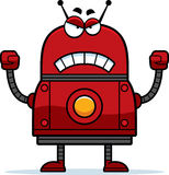 Verärgerter roter Roboter Stockbild