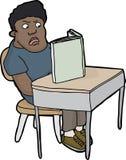 Verärgerter Student Reading Stockfotos