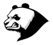 Verärgertes Pandakopfmaskottchen Stockfotografie