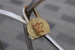 Verriegelung der Liebe lizenzfreies stockbild