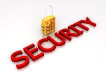 Verriegelung der Sicherheits-3D Stockfotos