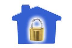 Verriegelung und Haus Lizenzfreie Stockfotografie