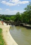 Verriegelungen des Kanals DU Midi Lizenzfreies Stockfoto