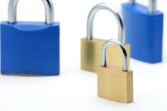 Verriegelungen, Konzept des geschäftlichen Probleme Lizenzfreies Stockbild