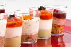 Verrine dishes Royalty Free Stock Photos