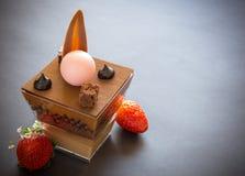 Verrine del cioccolato Immagine Stock