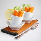 Verrine of surimi and salad. Delicious appetizer, verrine of surimi and salad Royalty Free Stock Image