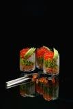 Verrines com caviar vermelho Foto de Stock