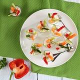 Verrines com cenoura, pepino, aipo, pimenta Imagens de Stock Royalty Free