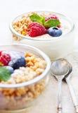 Verrines de yaourt Image libre de droits