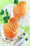 Verrines saudáveis da cenoura Fotografia de Stock Royalty Free