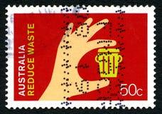 Verringern Sie überschüssige australische Briefmarke Stockfotografie