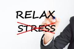 Verringern Sie Stress am Arbeitsplatz, um sich im Büro zu entspannen Lizenzfreies Stockbild