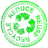 Verringern Sie Wiederverwendung aufbereiten Stempel Lizenzfreies Stockbild