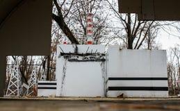 Verringerte Kopie des Atomkraftwerks Tschornobyls Lizenzfreie Stockbilder