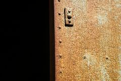 Verrostende Eisen-Tür Lizenzfreies Stockfoto