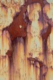 Verrostende gemalte Metallplatte stockfotos