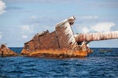 Verrostendes Schiffswrack Stockfotografie