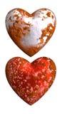 Verrostete alte Liebe und Hass des Herzens Lizenzfreie Stockbilder