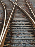 Verrostete Bahnstrecken Lizenzfreies Stockfoto