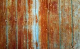 Verrostete Blau galvanisierte Eisenplatte Stockfotografie