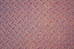Verrostete Diamond Plate Steel-Beschaffenheit Schwarzweiss lizenzfreie stockfotografie