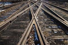Verrostete Eisenbahn Stockbilder