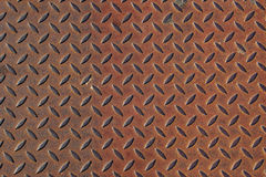 Verrostete gewölbte Stahlplatte Stockfoto
