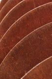 Verrostete scharfe Platten Stockbild