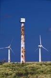Verrostete Windturbinen Lizenzfreies Stockbild