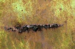 Verrosteter Eisenmetallbeschaffenheitshintergrund stockbild