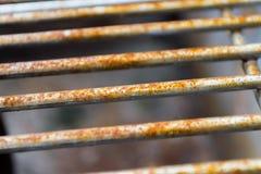 Verrosteter Grill hält horizontales ab Lizenzfreie Stockfotos