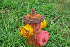 Verrosteter Hydrant Stockfotografie