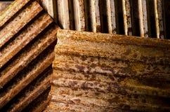 Verrosteter Metallhintergrund Lizenzfreies Stockfoto