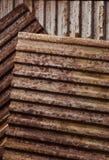 Verrosteter Metallhintergrund Stockfoto