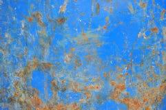 Verrostetes blaues Eisen Stockfotografie